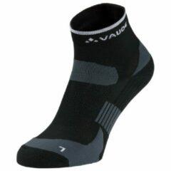 Zwarte Vaude Bike Socks Short Fietssokken Unisex - Black - Maat 36-39