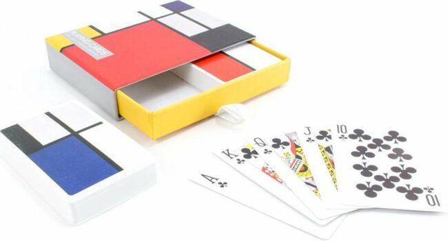 Afbeelding van Lanzfeld (museumwebshop.com) Set van 2 speelkaarten, Piet Mondriaan