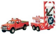 2-Play wegenwacht met aanhanger 27 cm oranje 8-delig