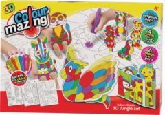 Colormazing Colourmazing - 3D Jungle - 6 tover-inktpennen inbegrepen