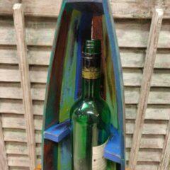 De Huismus Wijnrek Fleshouder Kano Boot Indonesië Multi Colour