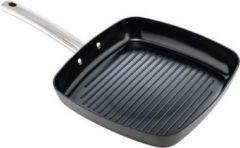 Antraciet-grijze ISENVI Murray keramische grillpan 26 CM - RVS greep