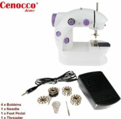 Paarse Cenocco CC-9081: Mini Sewing Machine