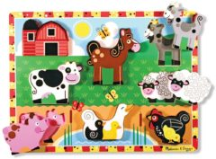 Melissa & Doug Chunky boerderij dieren houten vormenpuzzel 7 stukjes