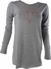 Papillon Shirt Met Lange Mouwen Dames Grijs Maat Xs