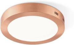 Light Depot - LED Plafondlamp Ska - Rond - 22,5 cm - LED geïntegreerd - Koper Metaal