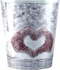 Rode Plastic bloempot Snow Heart pot 12 (inclusief Waterwick) (2stuks)