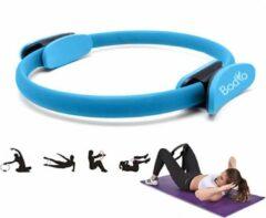 Bodio Pilates ring – Yoga ring – Fitness ring – Pilates ringen – Blauw – Ø 38 cm – Inclusief instructies – Pilates – Yoga – Fitness – Full body workout