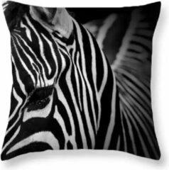 Dierenkussens Dieren kussenhoes Zebra - Black and White - Fotoprint - Sierkussen - 45x45 cm