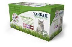 Yarrah organic kat multipack pate zalm / kalkoen / rund kattenvoer 8x100 gr