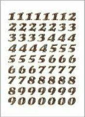 Huismerk Herma 4193 Etiket met getallen 0-9 8mm Goud