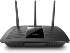 Linksys AC1900 draadloze router Dual-band (2.4 GHz / 5 GHz) Gigabit Ethernet Zwart