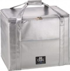 BE COOL City XXL Zilver luxe koeltas   taartenbox   Premium   Coolingbag   45 ltr 