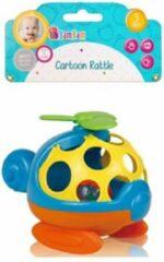 Blauwe BamBam Bam Bam - zacht rammelaarshelikopter- Baby Speelgoed peuter rammelaar - Bijtspeelgoed - Jongens meisjes 3 maanden