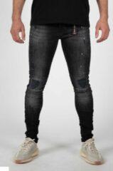 Jeans - jeans heren - jeans heren broeken - spijkerbroek heren - LEYON Zwart Spotted