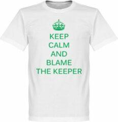 Witte Retake Keep Calm and Blame the Keeper T-Shirt - M