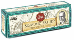 Professor Puzzle breinbreker Freudian Slip 16,5 cm hout bruin 3-delig