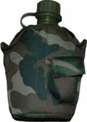 Fosco Veldfles leger met Camouflage hoes nieuw