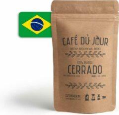Café du Jour 100% arabica specialiteit Cerrado koffiebonen 250 gram vers gebrande koffiebonen
