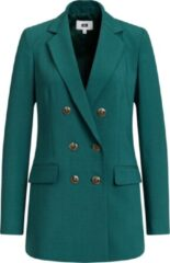 Groene WE Fashion Dames regular fit double breasted blazer