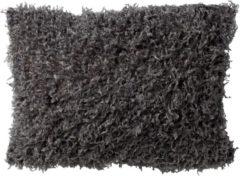 Antraciet-grijze Dutch Decor Kussenhoes Veera 30x50 cm Charcoal Grey