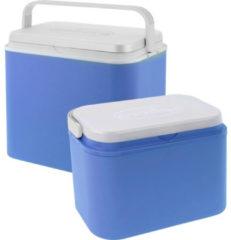 Blauwe 2x Koelboxen Kunststof 10/24 Liter - Koelboxen Set 2 Stuks