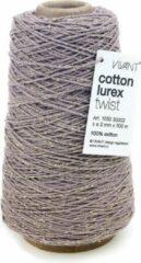 Vivant Cotton Cord Twist/ Katoen touw 300 meter Lavendel/Goud