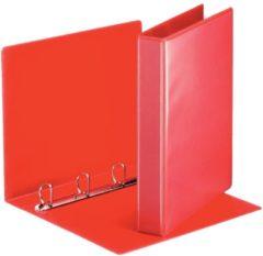 Rode Esselte personaliseerbare ringmap, rug van 5,1 cm, 4 D-ringen van 30 mm, rood