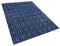 Blauwe Beliani Adatepe Vloerkleed Viscose 160 X 230 Cm