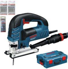 Bosch Professional Decoupeerzaagmachine GST 150 BCE (25 x Clean for Wood zaagbladen, 5 x Basic for Wood zaagbladen, 1 x zaagblad T 144 D, afdekkap, antisplinterplaatje, glijvoet en zuigmondstuk)