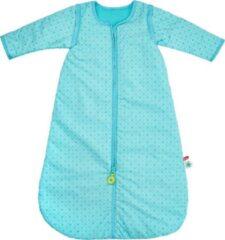 Dushi Blauwe slaapzak met afritsbare mouwen 85 cm