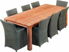 Van Kooten Tuin en Buitenleven Teak dinner tafel Rustiek 250 | Tafel L250xB100xH80 cm