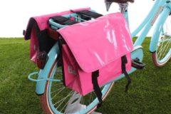 Roze Beck Dubbele fietstas Mini Bisonyl Pink