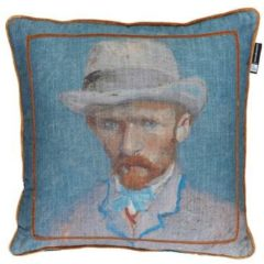Beddinghouse Beddinghouse x Van Gogh Museum Self Portrait Vincent Blue sierkussen