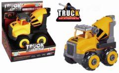 Gele Cementwagen Demonteerbaar - Speelgoedvoertuig