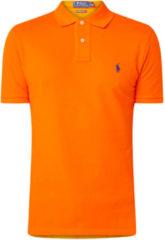 Oranje Ralph Lauren Custom slim fit polo van piqué katoen