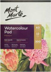Witte Mont Marte A5 waterverf papier 300 grams - 12 vellen
