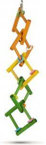 Afbeelding van Pet Products Houten vogelspeelgoed Carres - Afmeting: 45cm