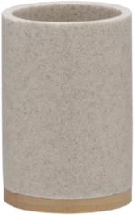 Sealskin Grace beker 7.3x10.6x7.3cm vrijstaand rond Polyresin with Bamboo Zand 361910465