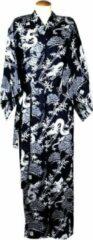 Blauwe Merkloos / Sans marque ORIGINELE JAPANSE YUKATA MET DRAAK DESSIN (MAAT ZIE PRODUCTBESCHRIJVING !!) DONGDONG Unisex Nachtmode kimono Maat One Size