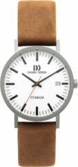 Zilveren Danish Design titanium herenhorloge Rhine White Camel Date Medium IQ31Q199