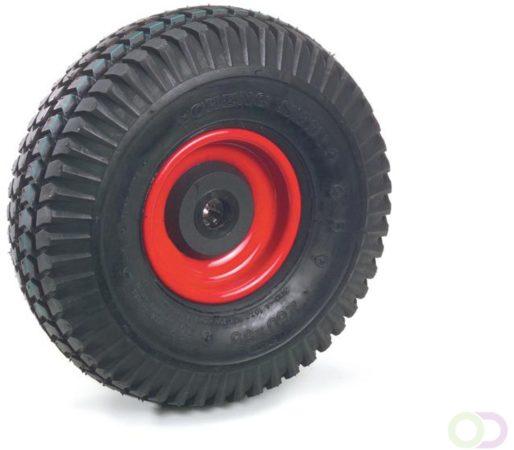 Afbeelding van Fetra PU-geschuimd wiel 260 x 85 mm blokprofiel , Stalen velg rood, NL 75, asgat 20