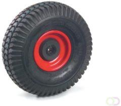 Fetra PU-geschuimd wiel 260 x 85 mm blokprofiel , Stalen velg rood, NL 75, asgat 20