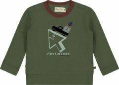 Groene Smitten Organic 'Adventure Drive' T-Shirt - Maat 134