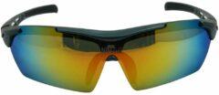 Blauwe Nihao Albo Sportbril 1.1mm Polarized. 5 extra verwisselbare lenzen. Anti-Reflect coating.