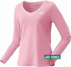 Yonex Long-sleeves shirt women - roze - maat M