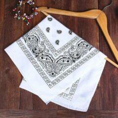 New Age Devi Fashion Hip Hop 100% Katoen Bandana Wit Vierkante Sjaal 55cm * 55cm Hoofdband Gedrukt Voor vrouwen/Mannen/Jongens/Meisjes 2019 Mode