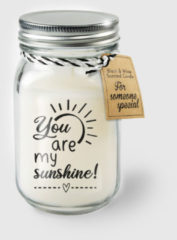 Witte Paper dreams Black & White geurkaars - You are my sunshine