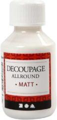 Transparante Creotime decoupage lijmlak mat 100 ml