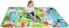 Paarse GT commerce Grote XL Speelmat / speel kleed Vloerkleed kinderen - Groot Baby & Kindervoerkleed - Dieren Kleed Jongens & Meisjes speelkleed - Binnen & Buiten | waterafstotend speel mat
